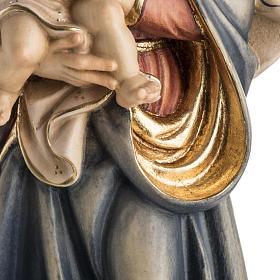 Statue Notre Dame de la paix peinte bois Val Gardena s4