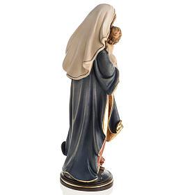 Statue Notre Dame de la paix peinte bois Val Gardena s6