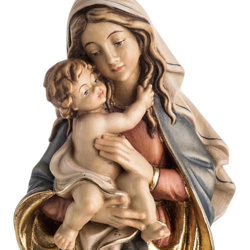 Statue Notre Dame de la paix peinte bois Val Gardena 2