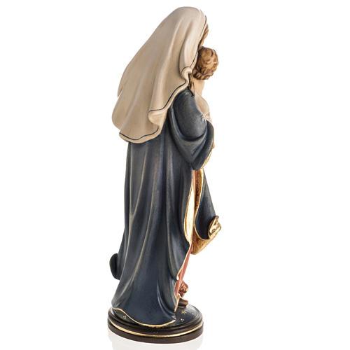 Statue Notre Dame de la paix peinte bois Val Gardena 6