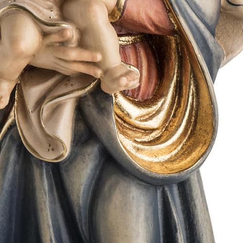 Matka Boża Królowa Pokoju figurka drewno malowane 4