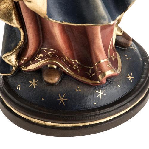 Matka Boża Królowa Pokoju figurka drewno malowane 5