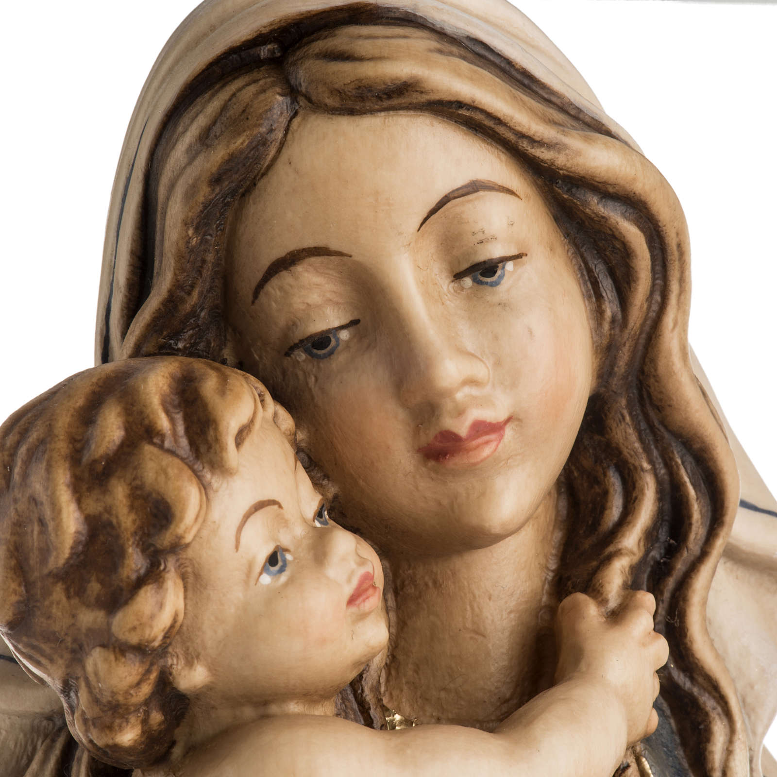 Our Lady of Peace wooden statue painted 4