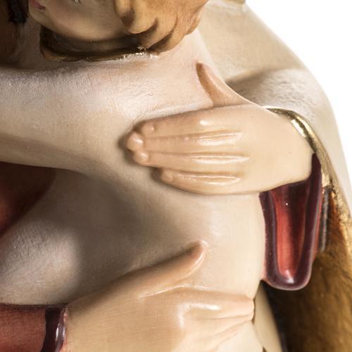 Estatua Val Gardena Virgen de la Esperanza madera pintada 7
