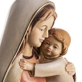 Statue Notre Dame de l'espérance peinte bois Val Ga s6