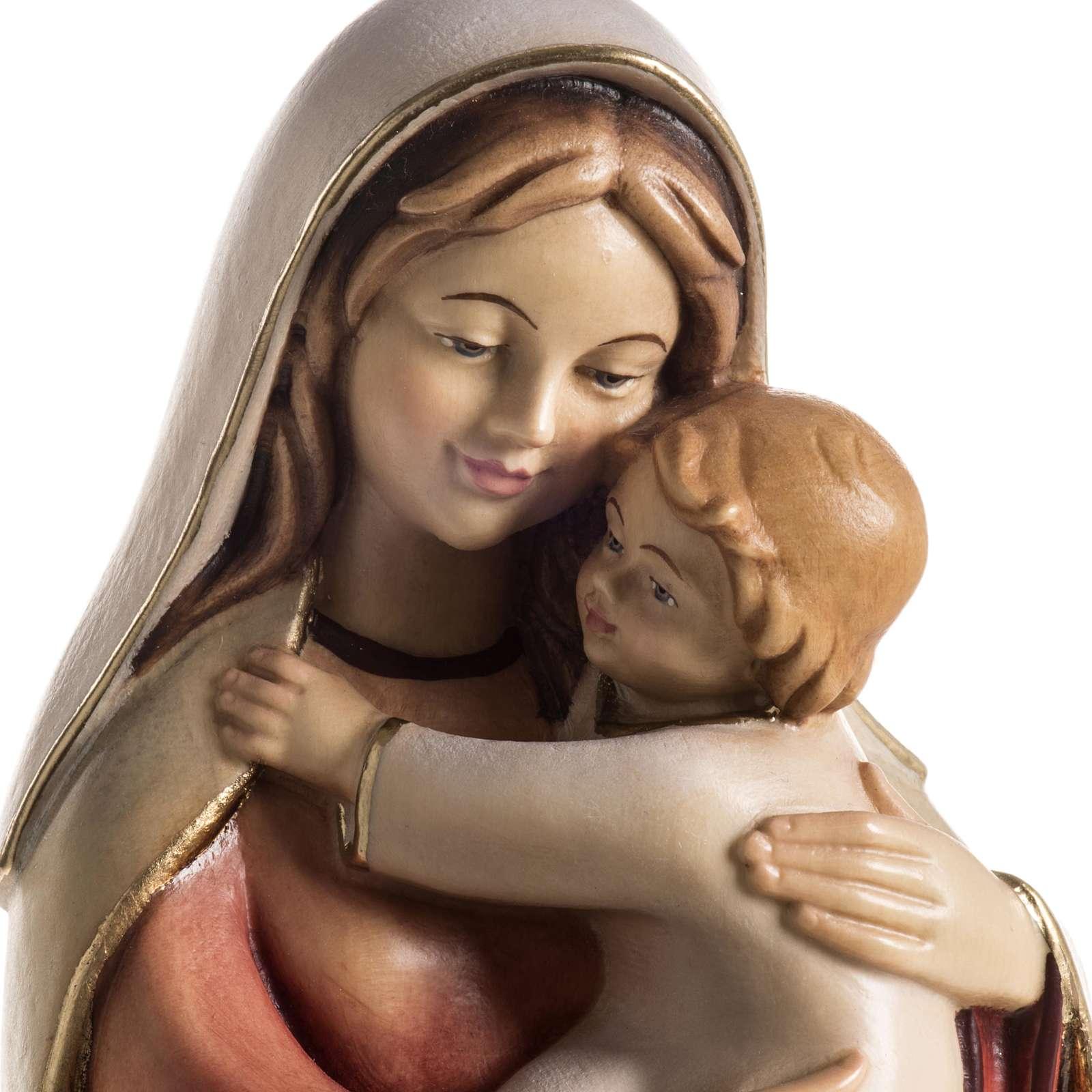 Imagem Val Gardena Nossa Senhora da Esperança madeira pintada 4