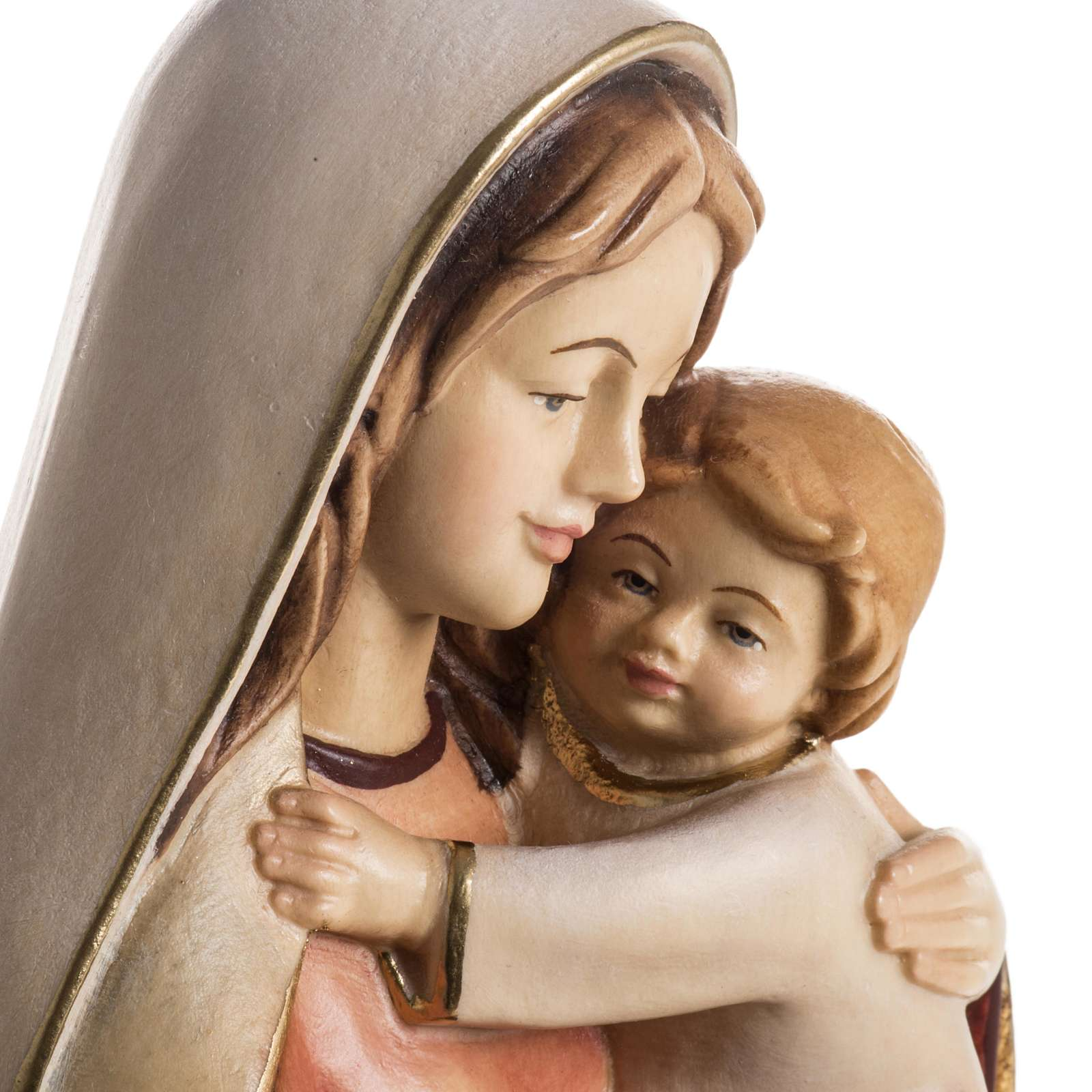 Our Lady of Hope wooden statue painted 4