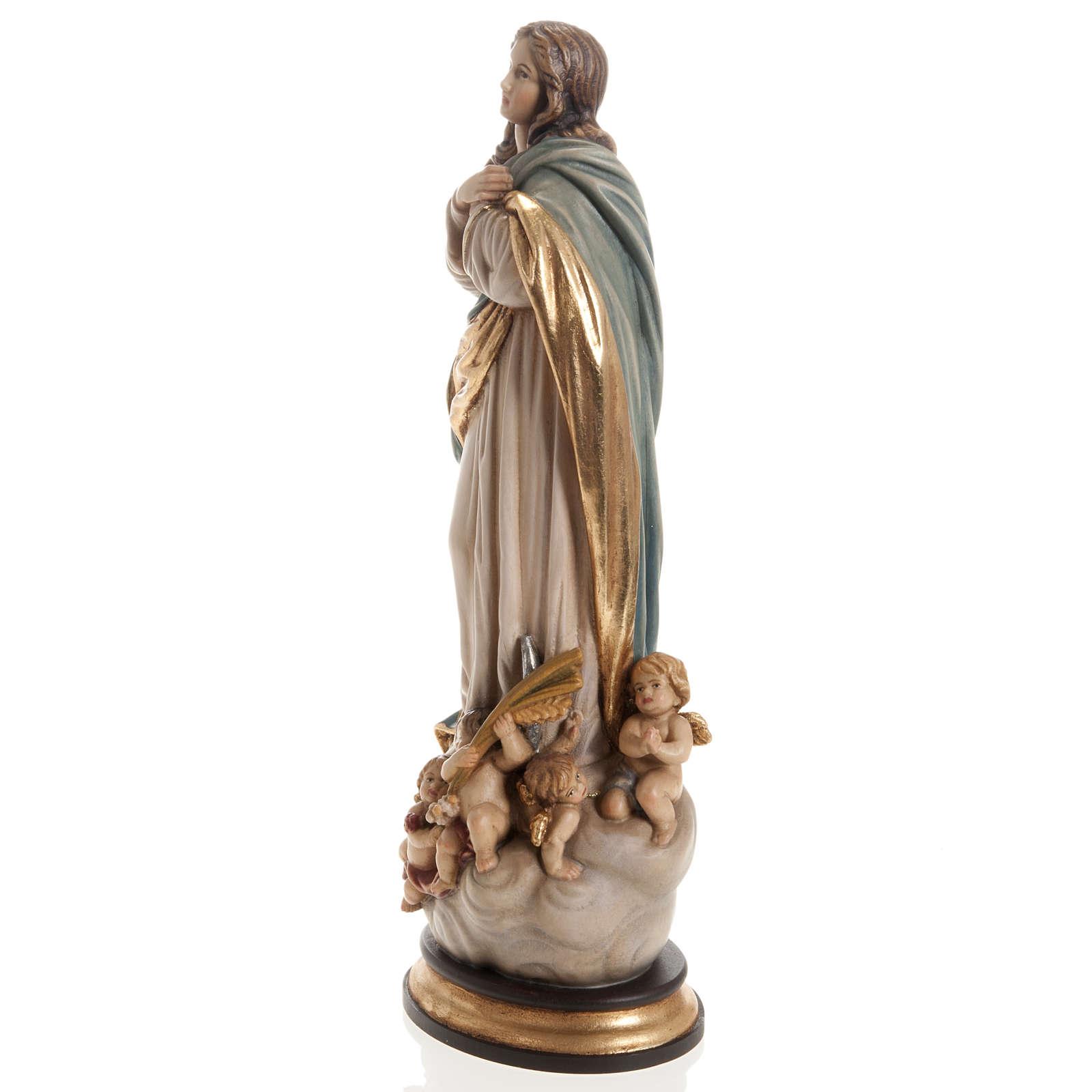 Estatua Val Gardena Inmaculada de Soult madera pintada 4
