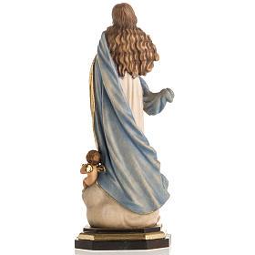 Estatua Val Gardena Inmaculada de Soult madera pintada s10