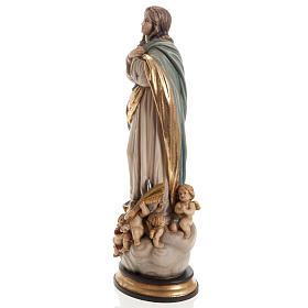 Estatua Val Gardena Inmaculada de Soult madera pintada s9