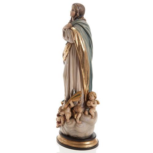 Estatua Val Gardena Inmaculada de Soult madera pintada 9