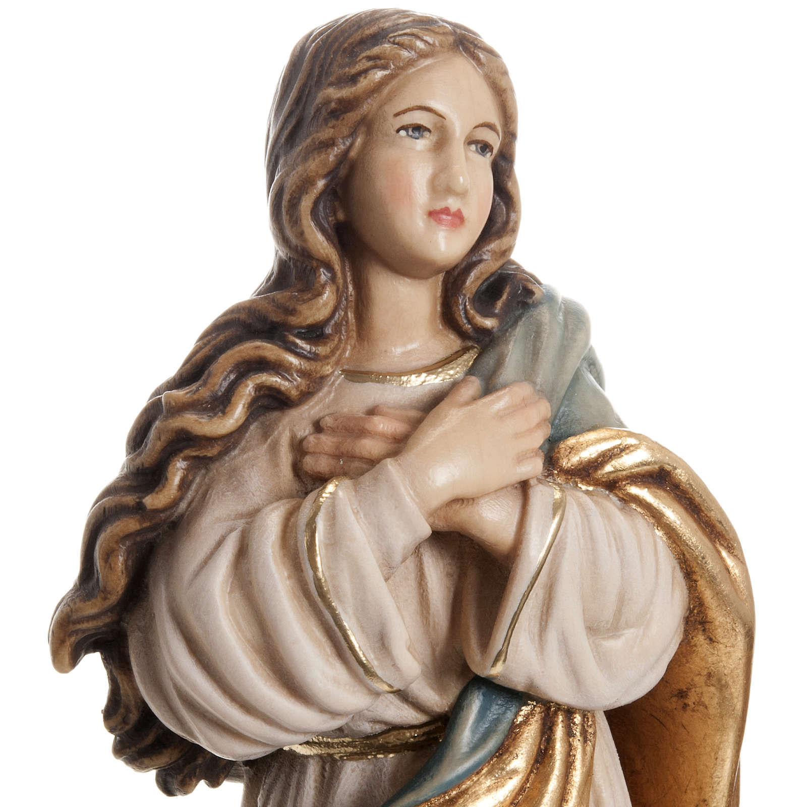 Immaculate Conception by Murillo wooden statue painted 4