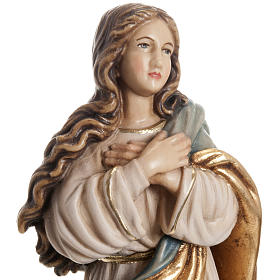 Immaculate Conception by Murillo wooden statue painted s3