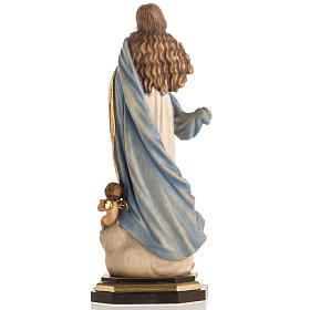 Immaculate Conception by Murillo wooden statue painted s10