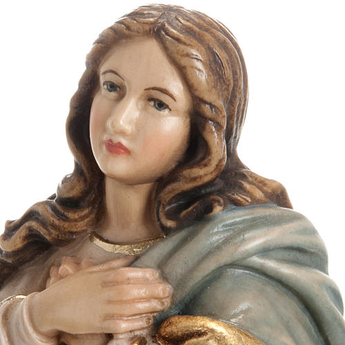 Immaculate Conception by Murillo wooden statue painted 15