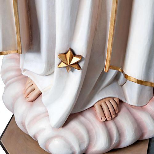 Estatua Nuestra Señora de Fátima  madera pintada 120 cm 4