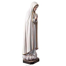 Statue Notre Dame de Fatima en bois peint yeux en cristal 120 cm s6