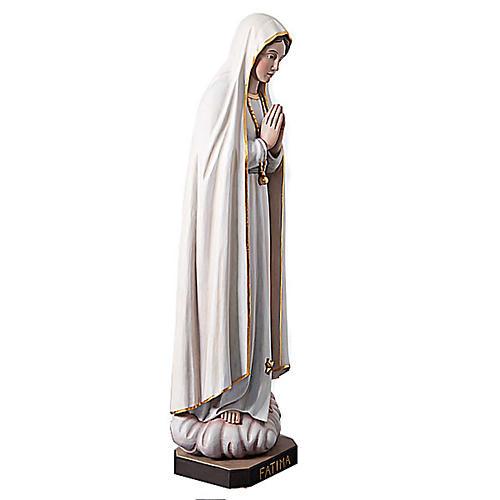 Statue Notre Dame de Fatima en bois peint yeux en cristal 120 cm 6