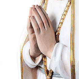 Statua Madonna di Fatima legno dipinto occhi cristallo 120 cm s2
