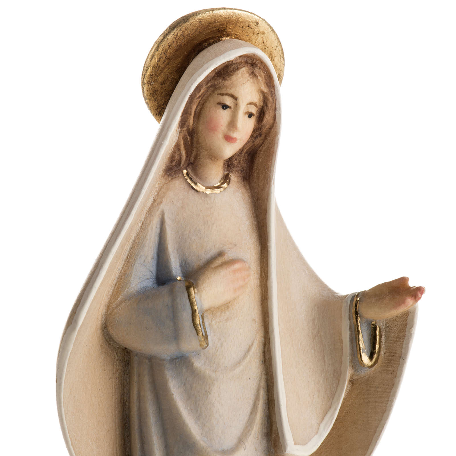 Our Lady of Medjugorje Mod. Linea wooden statue painted 4