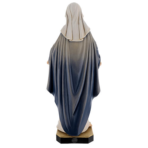 Holy heart of Mary wooden statue painted 7