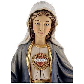 Niepokalane Serce Maryi figurka malowane drewno Val Gardena s4