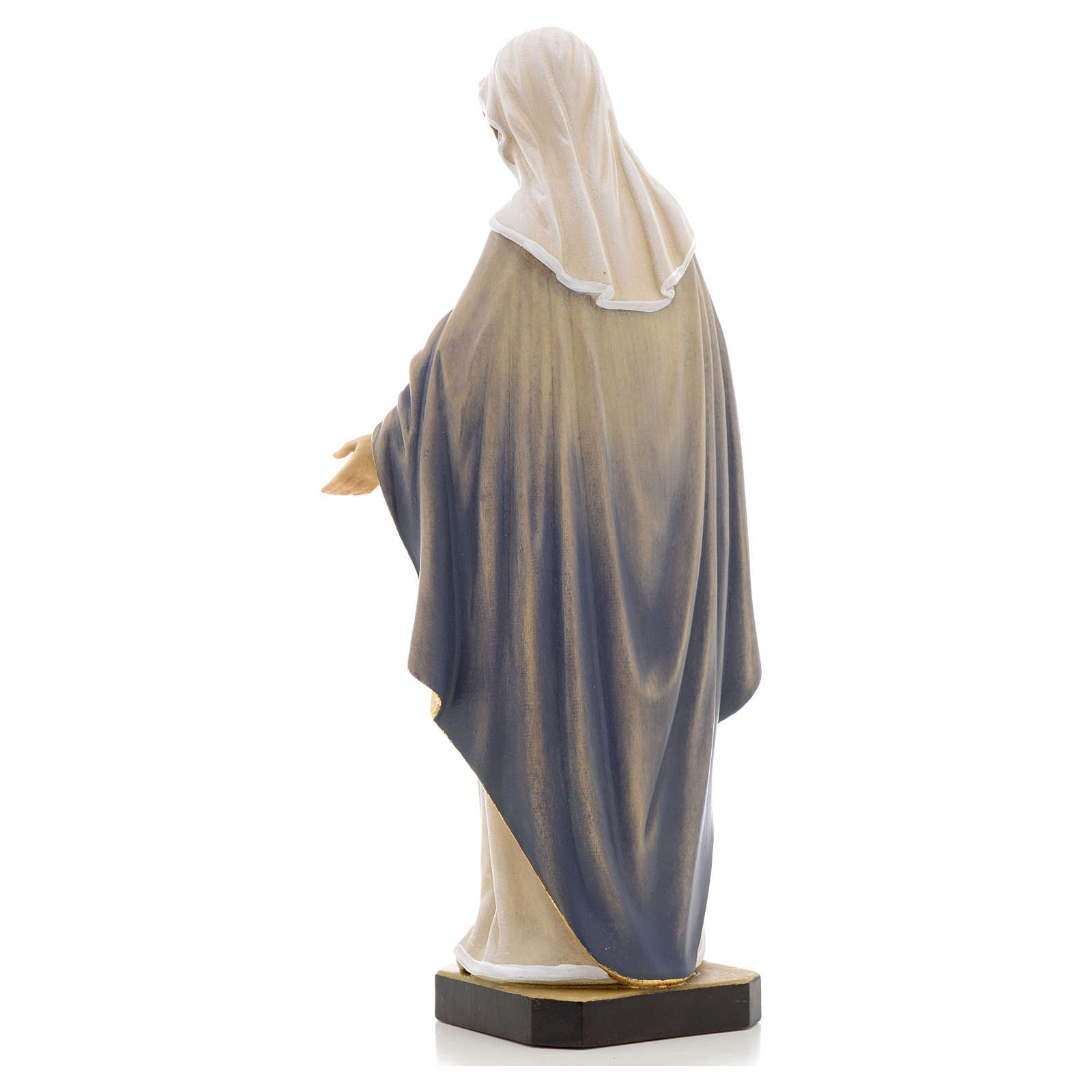Holy heart of Mary wooden statue painted 4