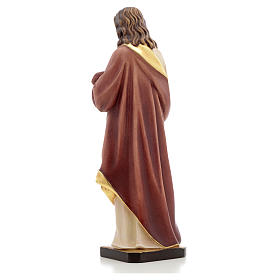 Sacred Heart of Jesus wooden statue painted s7