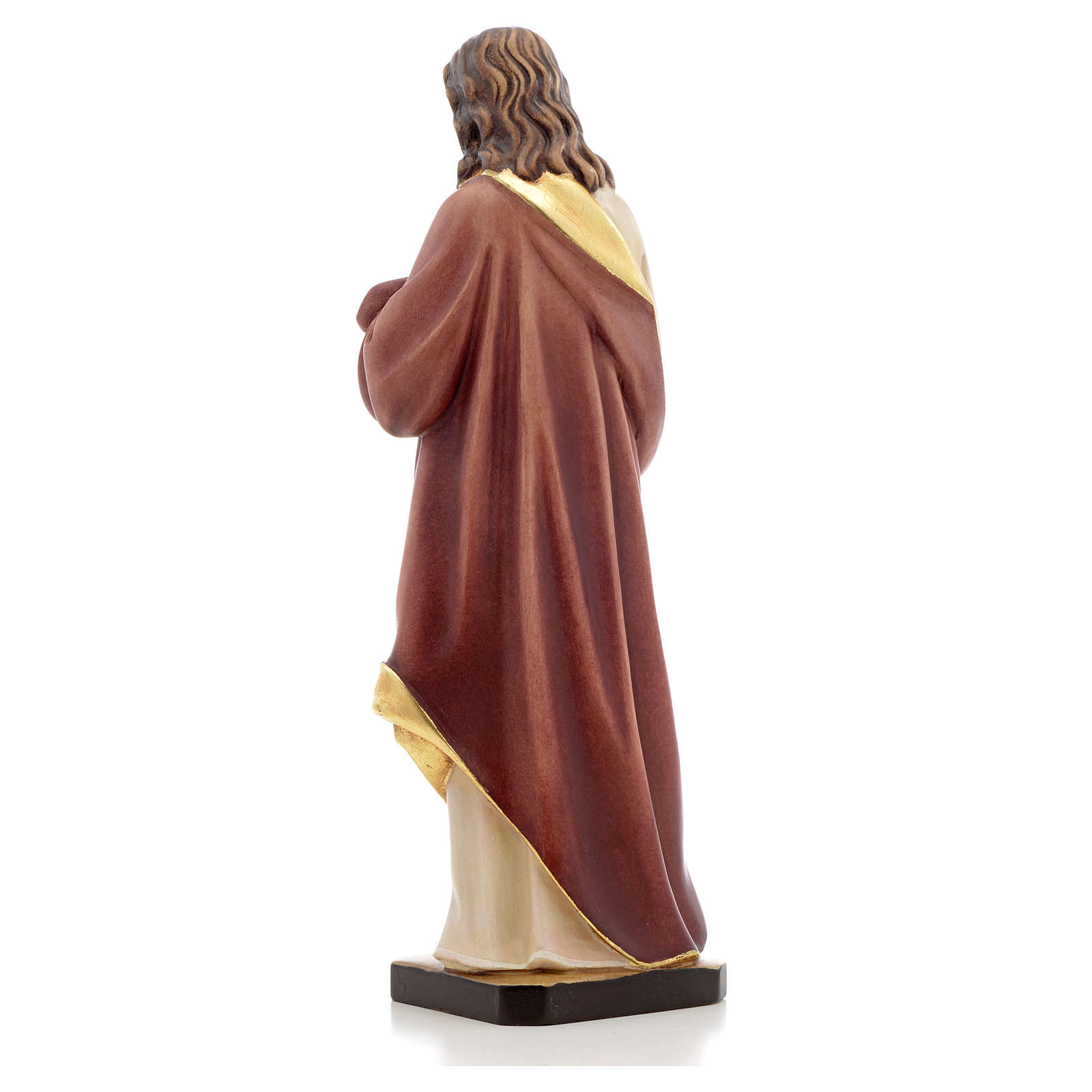 Estatua madera Sagrado Corazón de Jesús pintada Va 4