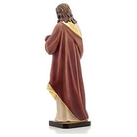 Estatua madera Sagrado Corazón de Jesús pintada Va s7