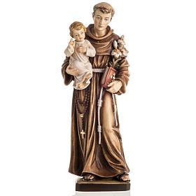 Imágenes de Madera Pintada: Estatua madera San Antonio con Niño pintada
