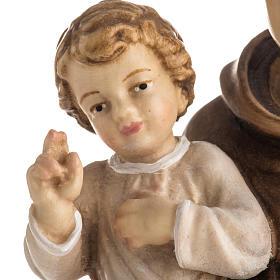 Statue St Antoine avec enfant peinte bois Val Gardena s6