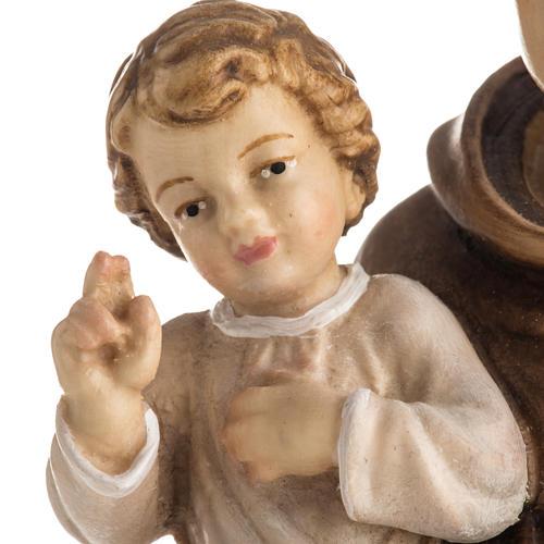 Statue St Antoine avec enfant peinte bois Val Gardena 6