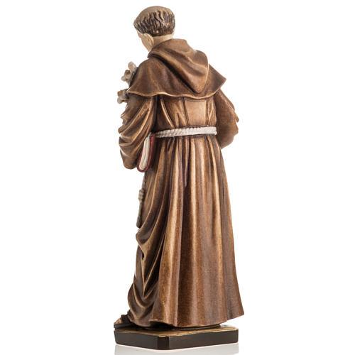Statue St Antoine avec enfant peinte bois Val Gardena 8