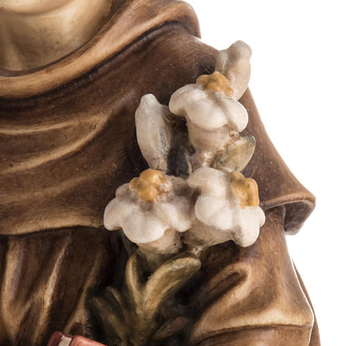 Saint Antony with Child wooden statue painted 7