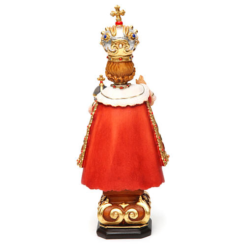 Infant of Prague wooden statue painted 5