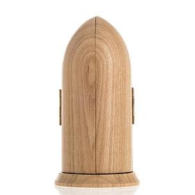 Święty Ojciec Pio figurka w niszy malowane drewno s4