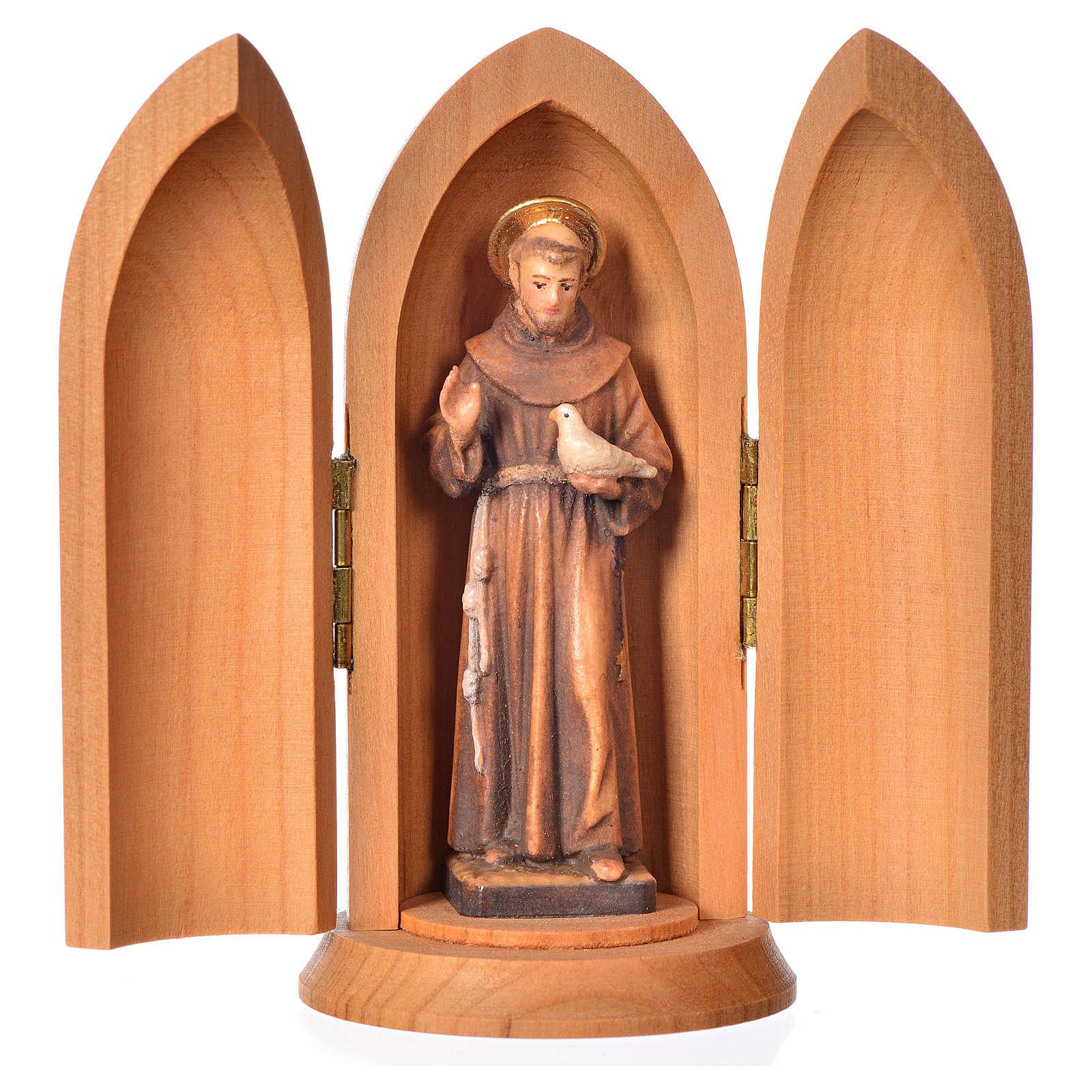 Estatua San Francisco nicho madera 4