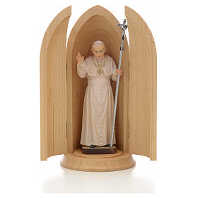 Hand painted wooden statues: Pope John Paul II in Shrine wooden statue painted