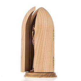 Anioł Stróż z chłopcem figurka w niszy drewno s6