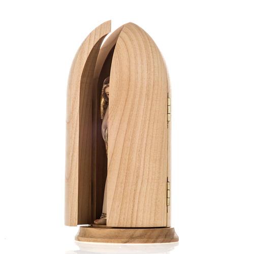 Anioł Stróż z chłopcem figurka w niszy drewno 6