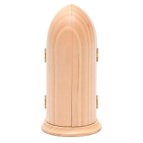 Statua Madonna di Fatima stilizzata in nicchia legno s5