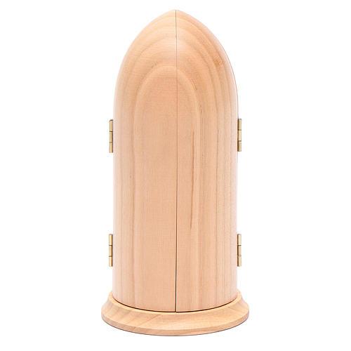 Statua Madonna di Fatima stilizzata in nicchia legno 5