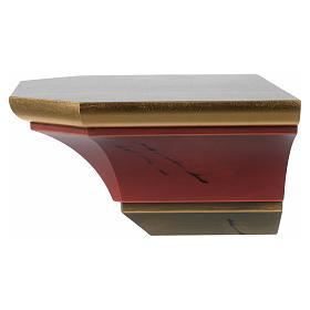 Prateleira de parede para imagem em madeira estilo antiquado s3
