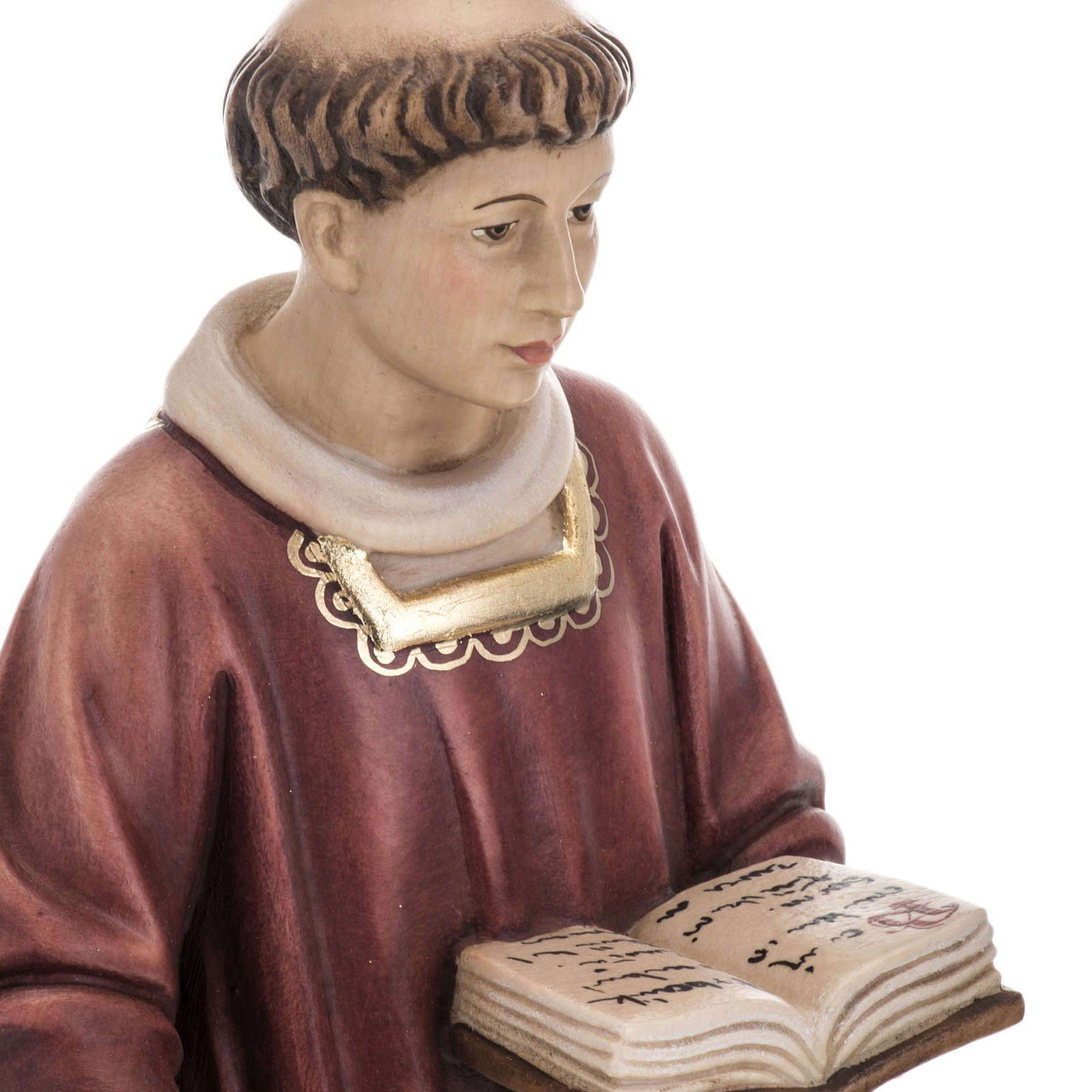 Saint Lawrence in coloured wood 30cm 4