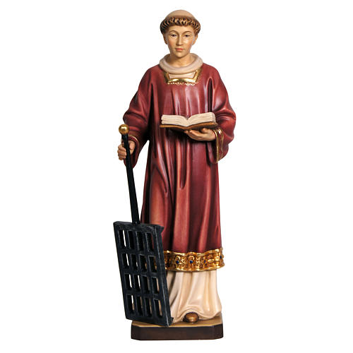 Saint Lawrence in coloured wood 30cm 2
