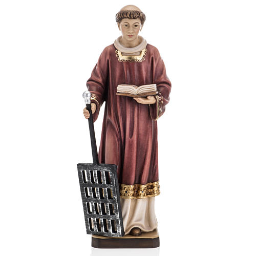 Saint Lawrence in coloured wood 30cm 1