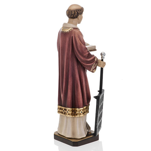 Saint Lawrence in coloured wood 30cm 5