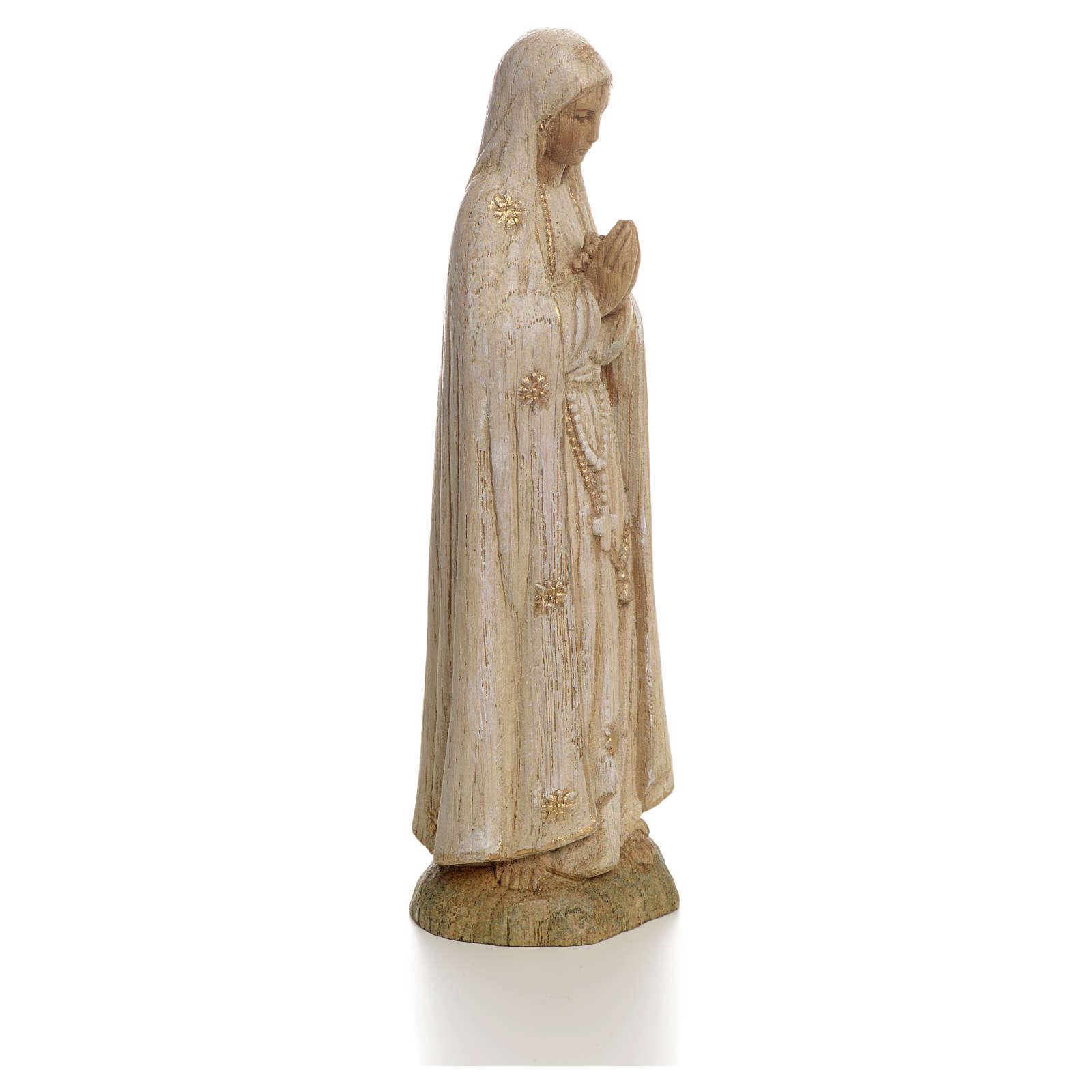 Imagem Nossa Senhora de Fátima 15 cm madeira pintada Belém 4