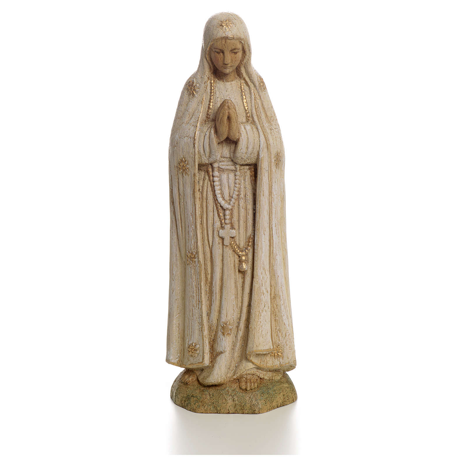 Our Lady of Fatima statue in painted wood 15 cm, Bethleem 4